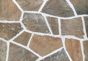 Kamenná dlažba / obklad 20-50 cm Brown, šlapáky do betonu