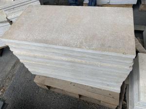 Mramorová dlažba - obklad Jantar, 60x30x2 opalovaný