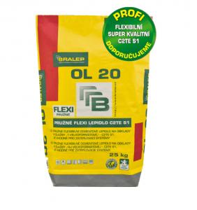Flexibilní bílé cementové lepidlo OL20 C2TE S1 - 25 kg
