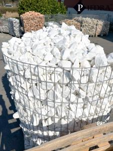 Mramorová drť WHITE THASOS, okrasné kameny