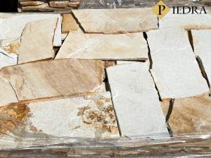 Kamenná dlažba / obklad 20-50 cm Yellow ligth, šlapáky do betonu