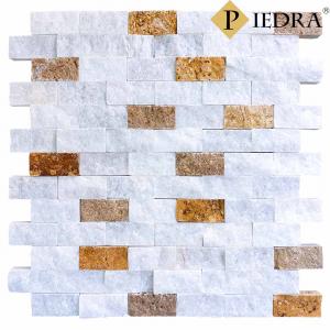 Obkladový kámen, přírodní mramor bílý mix