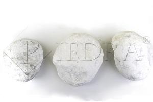 VALOUNY Bílý 100-150 mm, okrasné valouny